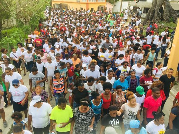 Cientos Celebran Marcha De La Biblia En Municipio Consuelo