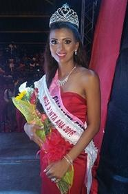 Eugenia Gomez Electa Miss Santa Ana 2016