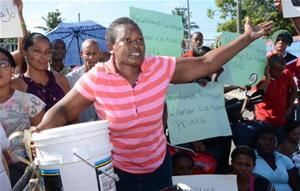 Trabajadores Protestan Por Cierre De Zona Franca En San Pedro
